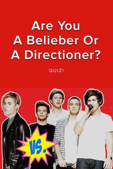 QUIZ: Are You A Belieber Or A Directioner? | 1D is the best