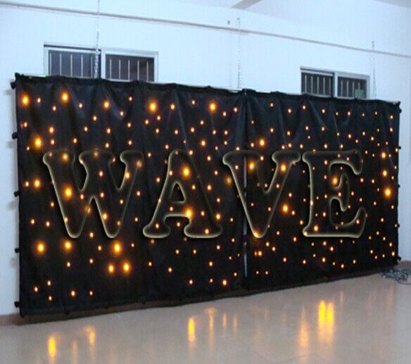 Wholesale Customized size led dj light curtain/ table cloth with led