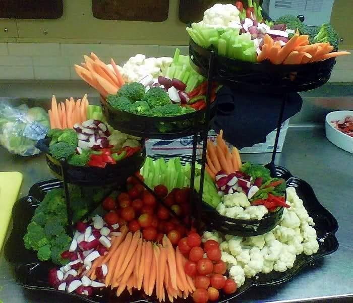 Wedding Reception Food Display: Plant Stand For Food Display