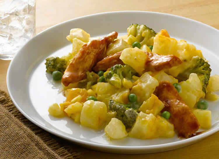 poulet aux pomme de terre brocoli et