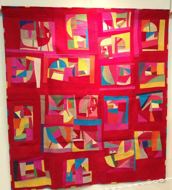 Contemporary quilt by Sakuko Tsunoda spotted at International Quilt Week-Yokohama 2012, photo by Blossom Heart Quilts