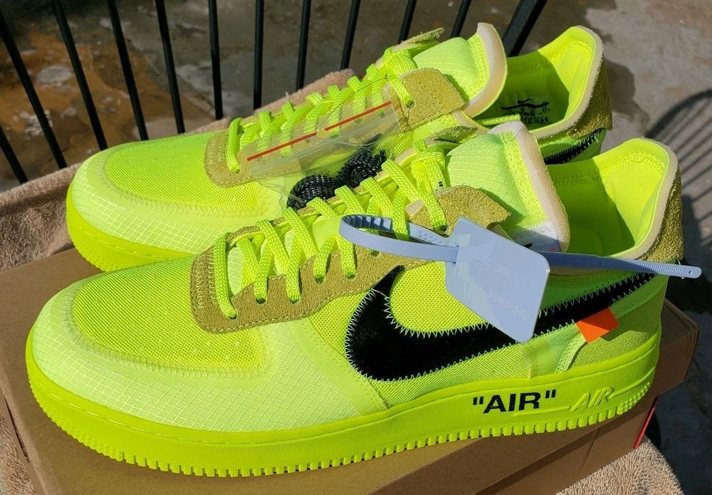 Nike Off White The 10: AF1 Air Force 1 Low Volt Black Size