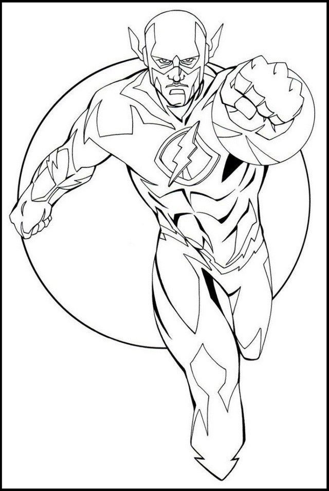Flash From Justice League Coloring Pages | DC Comics Coloring Pages ...