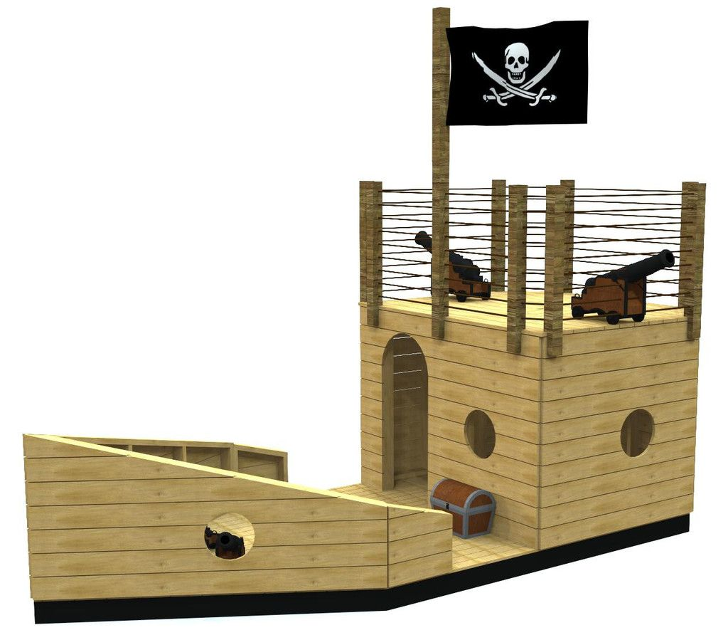 Crippling Clipper Pirateship Plan in 2019 | Beach Backyard | Pinterest | Kids pirate ship ...