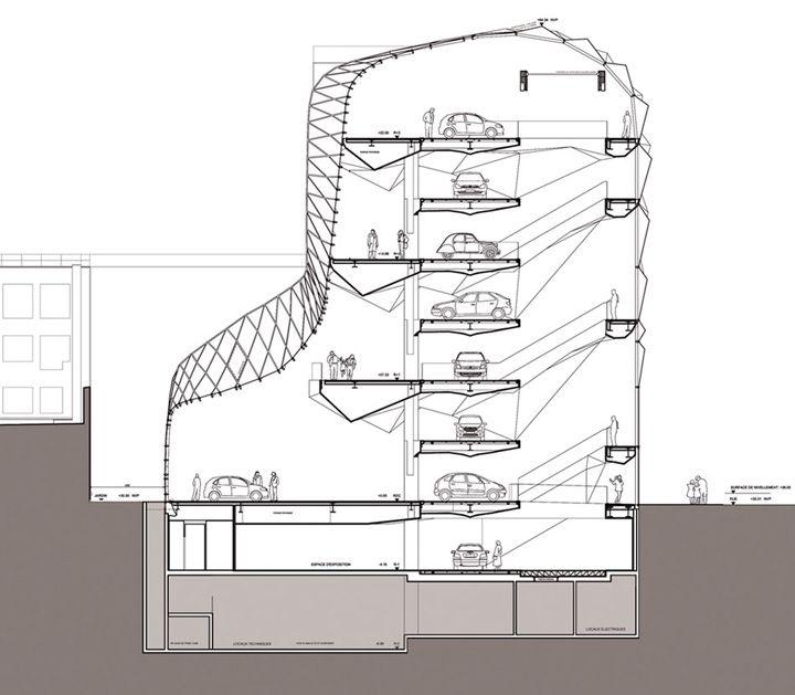 c42 citroen showroom manuelle gautrand paris 15 c42 citroen showroom by manuelle gautrand. Black Bedroom Furniture Sets. Home Design Ideas