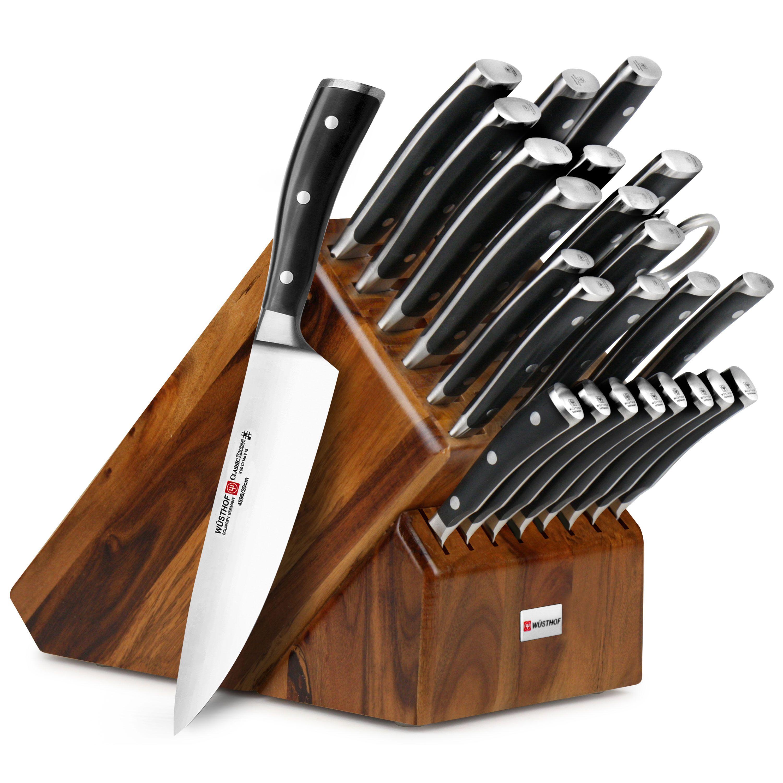 Wusthof Classic Ikon 26 Piece Acacia Ultimate Knife Block Set