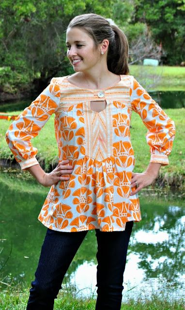 Sew Happy: Anouk Tunic by Victory : Pattern Review
