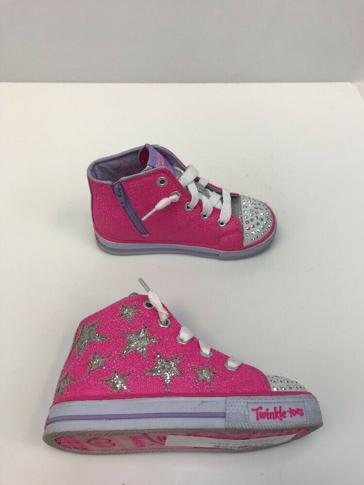 eBay Sponsored) Skechers Girls PinkGray Sparkly Twinkle