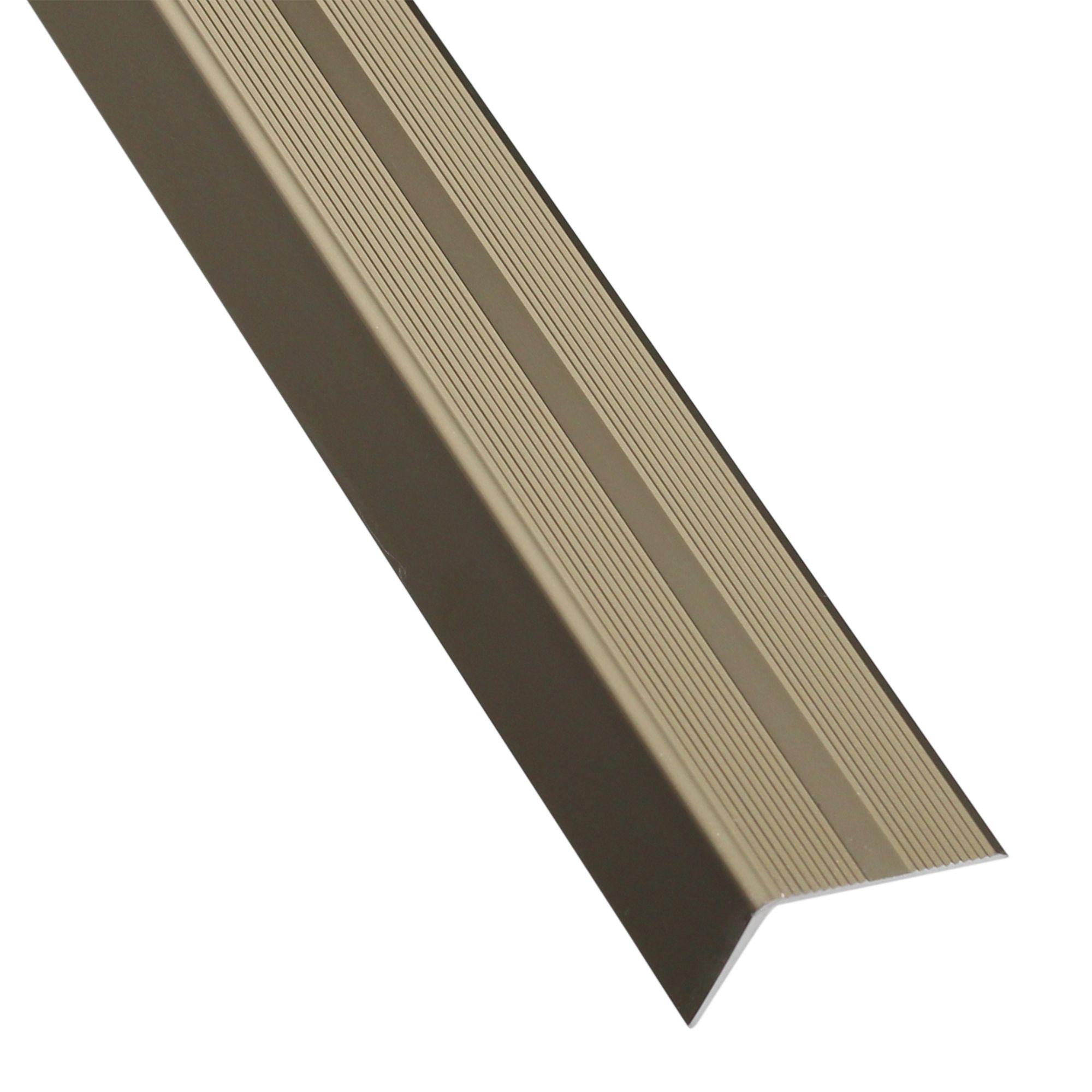 Nez De Marche Aluminium Mat Gris L 2 M X L 4 Cm X H 2 5 Cm Leroy Merlin En 2021 Nez De Marche Nez Mat