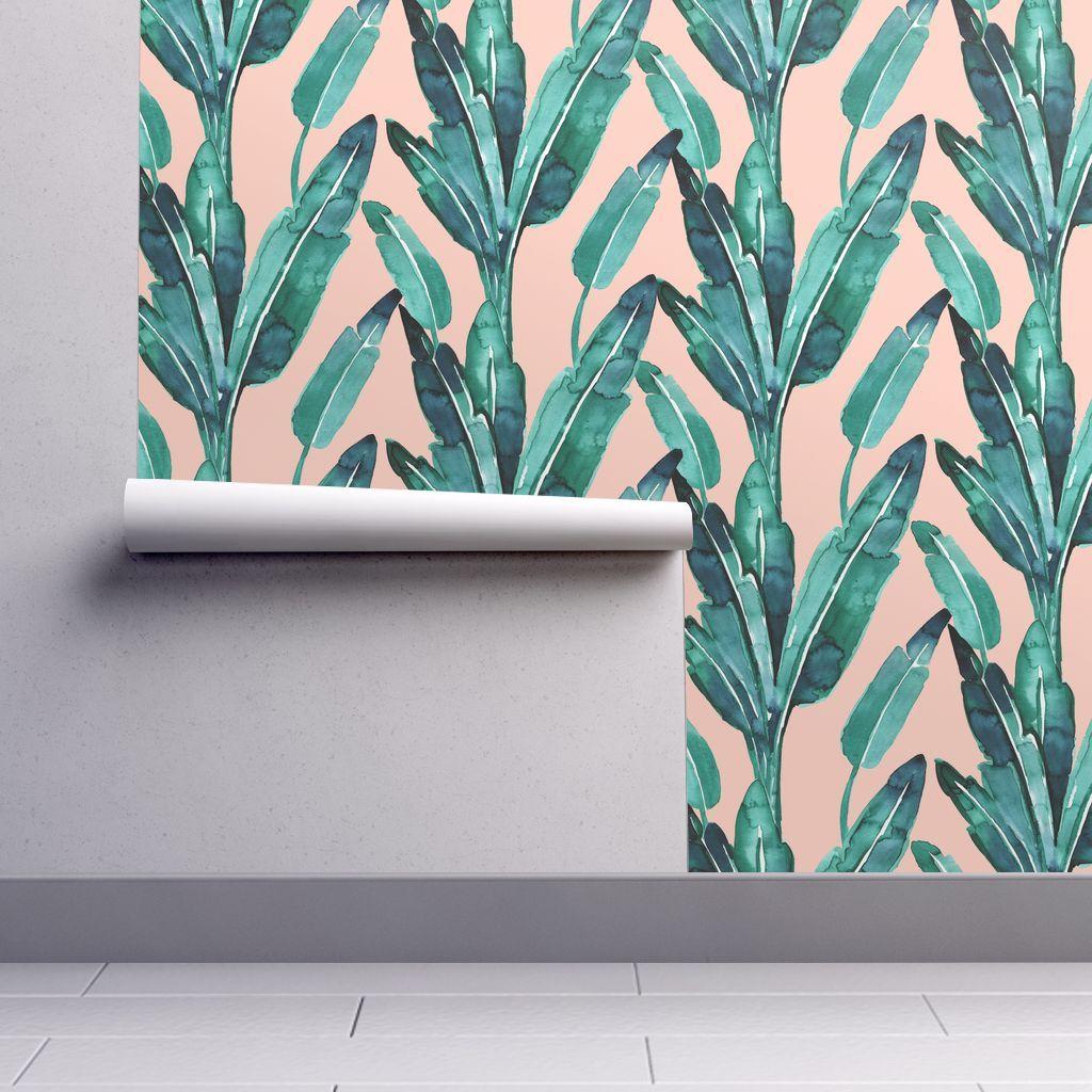 """Banana Leaves_adobe 12"""" Wallpaper"""