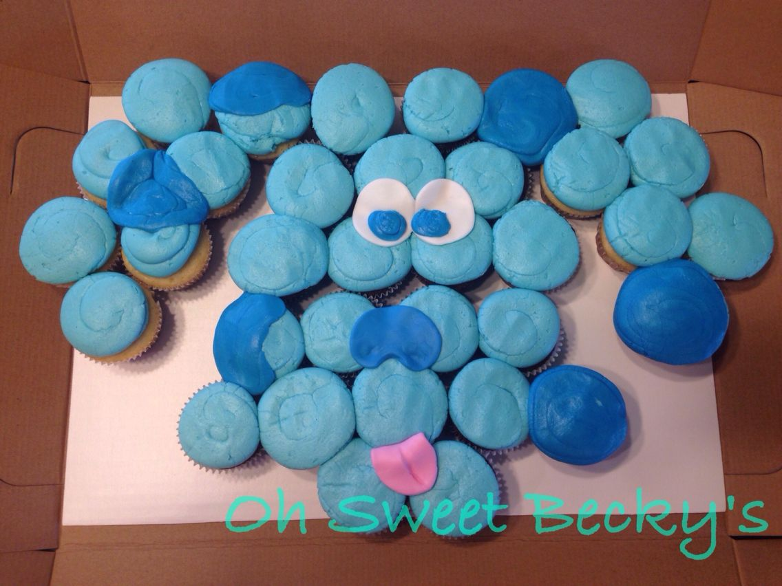 blues clues cupcake cake oh sweet becky u0027s cakes pinterest