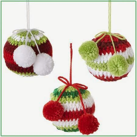вязаные елочные игрушки крючком новый год рождество