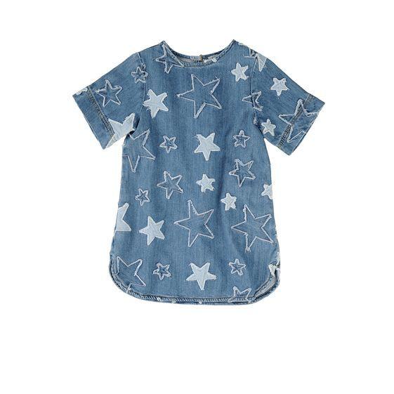 0897e8fe1b9 Stella McCartney Kids - Star Denim Bess Dress Time Kids, Baby Momma, Stella  Mccartney
