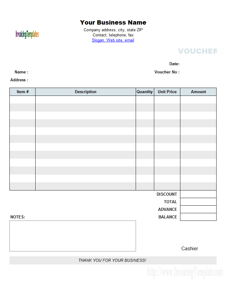 Excel Payment Voucher Template  Documents