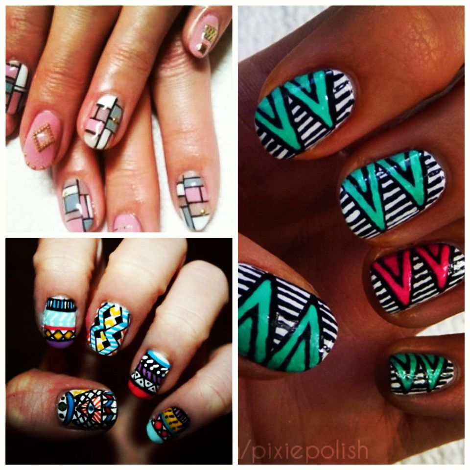 African nail art rican inspired nail art pinterest african nail art prinsesfo Images