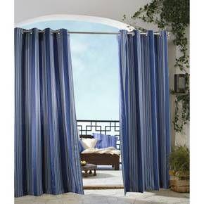 Outdoor Decor Gazebo Stripe Indoor Curtain Panel