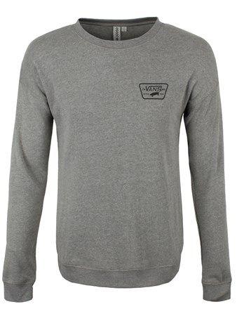 48820c593e Buy Vans Authentic Trap Heather Grey Crew Ladies Sweatshirt Ladies Sweater