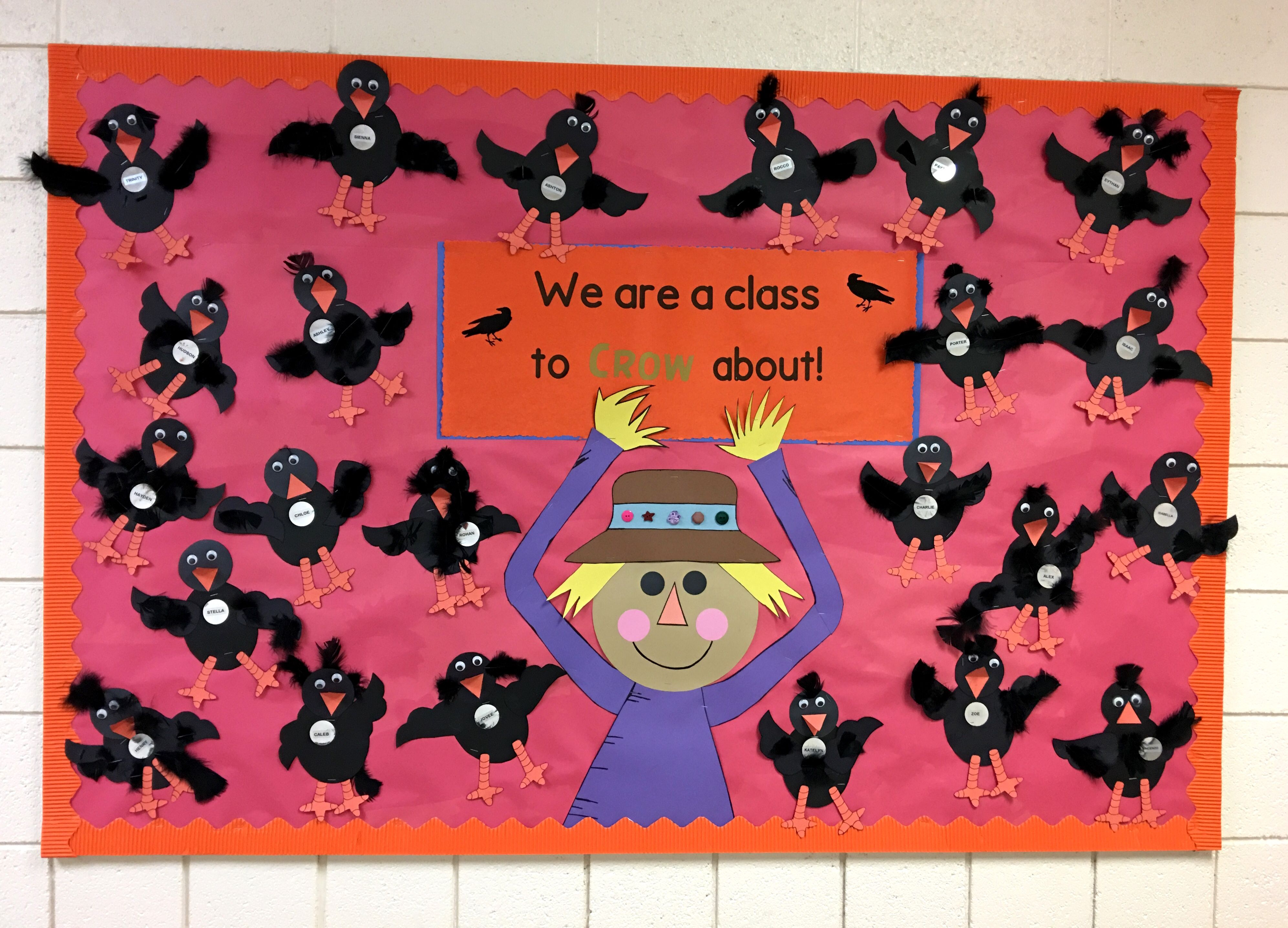 First Grade Fall Bulletin Board Autumn Colors Crows And