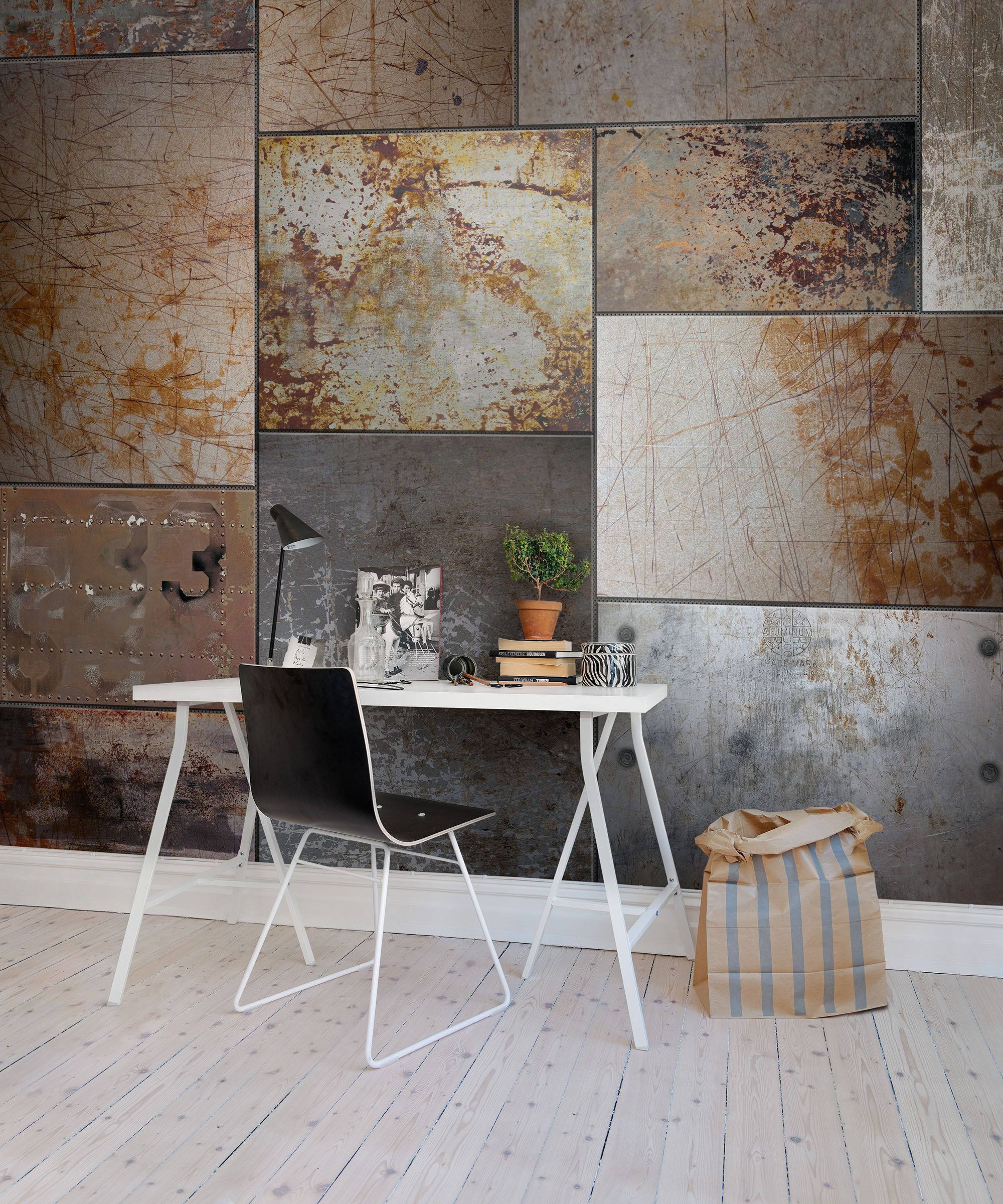 3d Fototapete London Steel Hillsdale San Mateo Modern Wallpaper Industrial