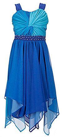 5e849c146cd Rare Editions Tween Diva 7-16 Shirred Ombre Dress