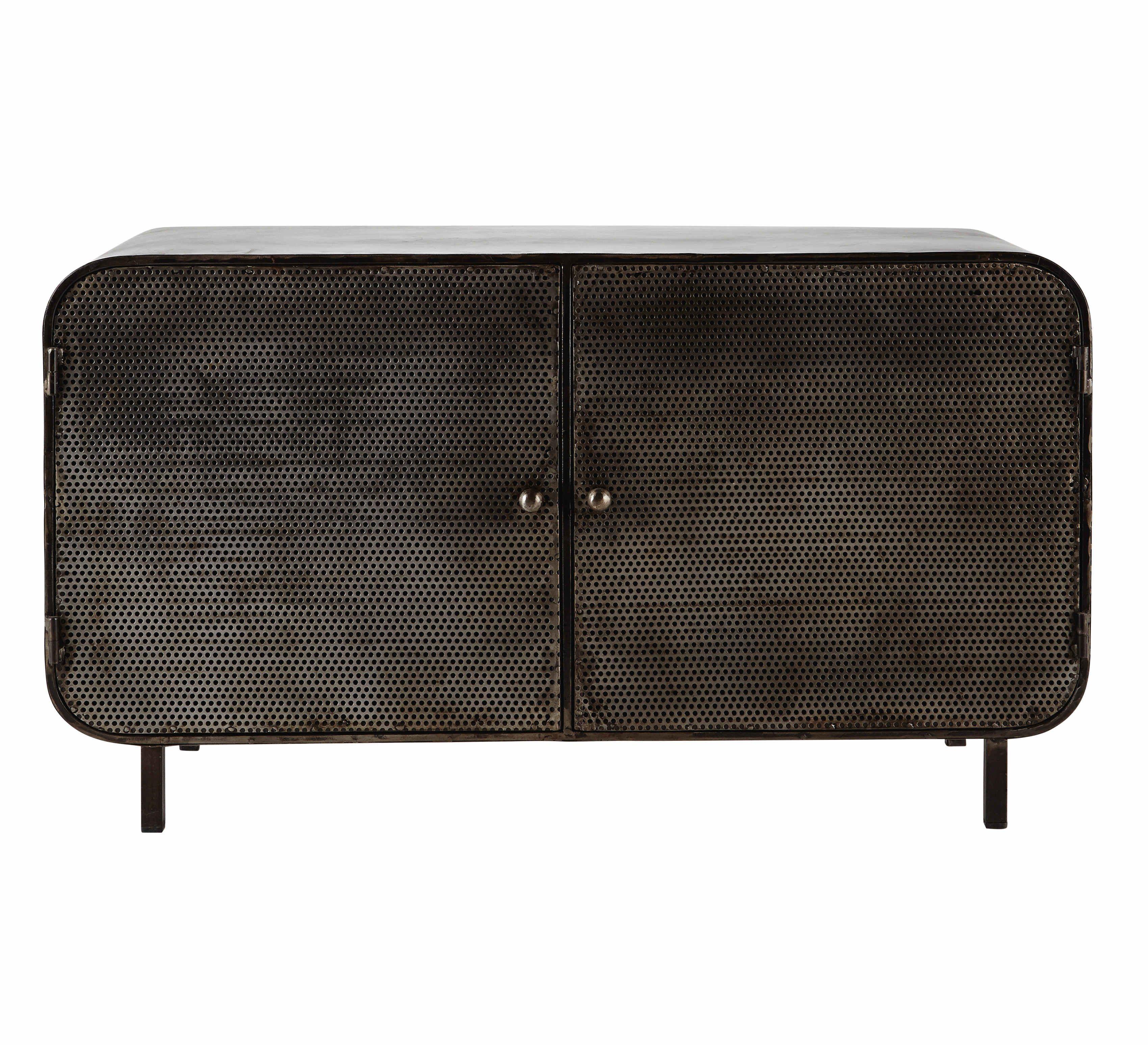 Buffet en métal noir L 116 cm porter Living room