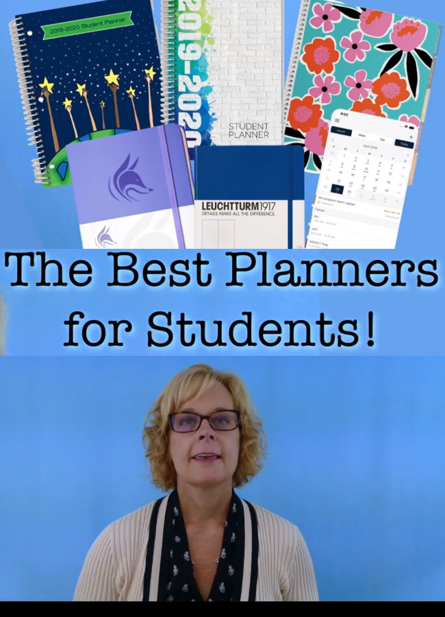 The Best Planners For Students 2020 2021 School Year Video Video Student Planner Life Hacks For School Best Planners