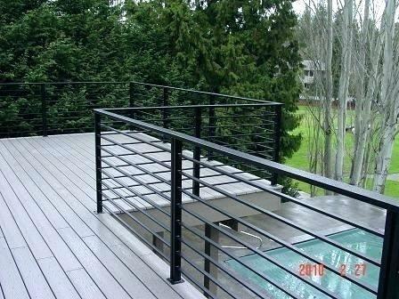 Horizontal Metal Deck Railing Wonderful Home Ideas 2 Dakterras