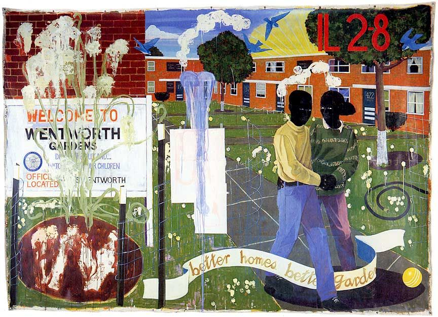 kerry james marshall better homes better gardens 1994 acrylic and collage on unstretched canvas 100 x 142 inches - Google Better Homes And Gardens