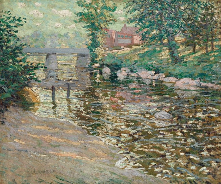 Ernest Lawson - The Bronx River   American painting ...