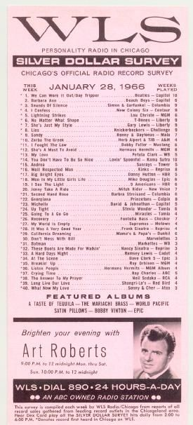 am 890 wls chicago music surveys out of the past pinterest
