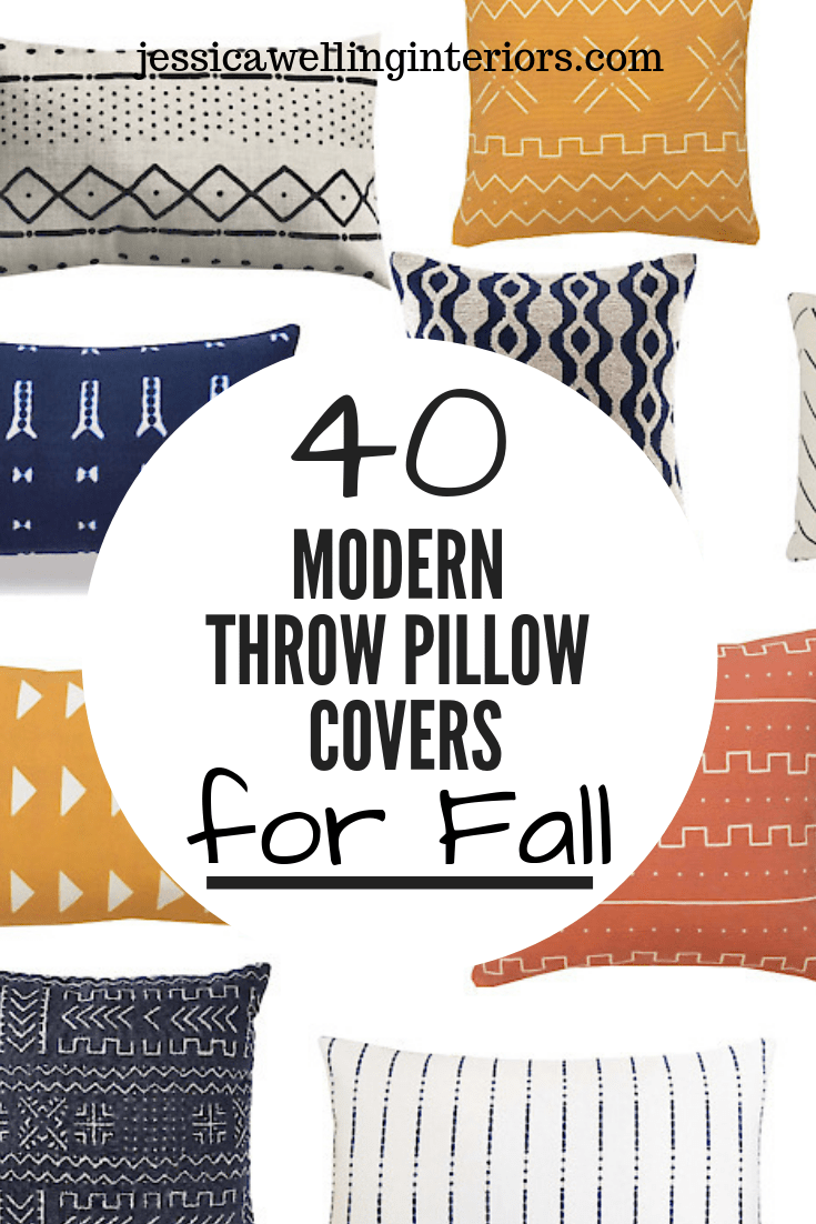 Cheap Modern Throw Pillow Covers For Fall Jessica Welling Interiors Modern Throw Pillows Throw Pillows Throw Pillow Covers #pillow #covers #living #room