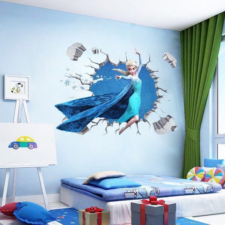 Large Elsa Disney Frozen Wall Stickers Frozen Wall Decals Wall Decals Kids Wall Decals