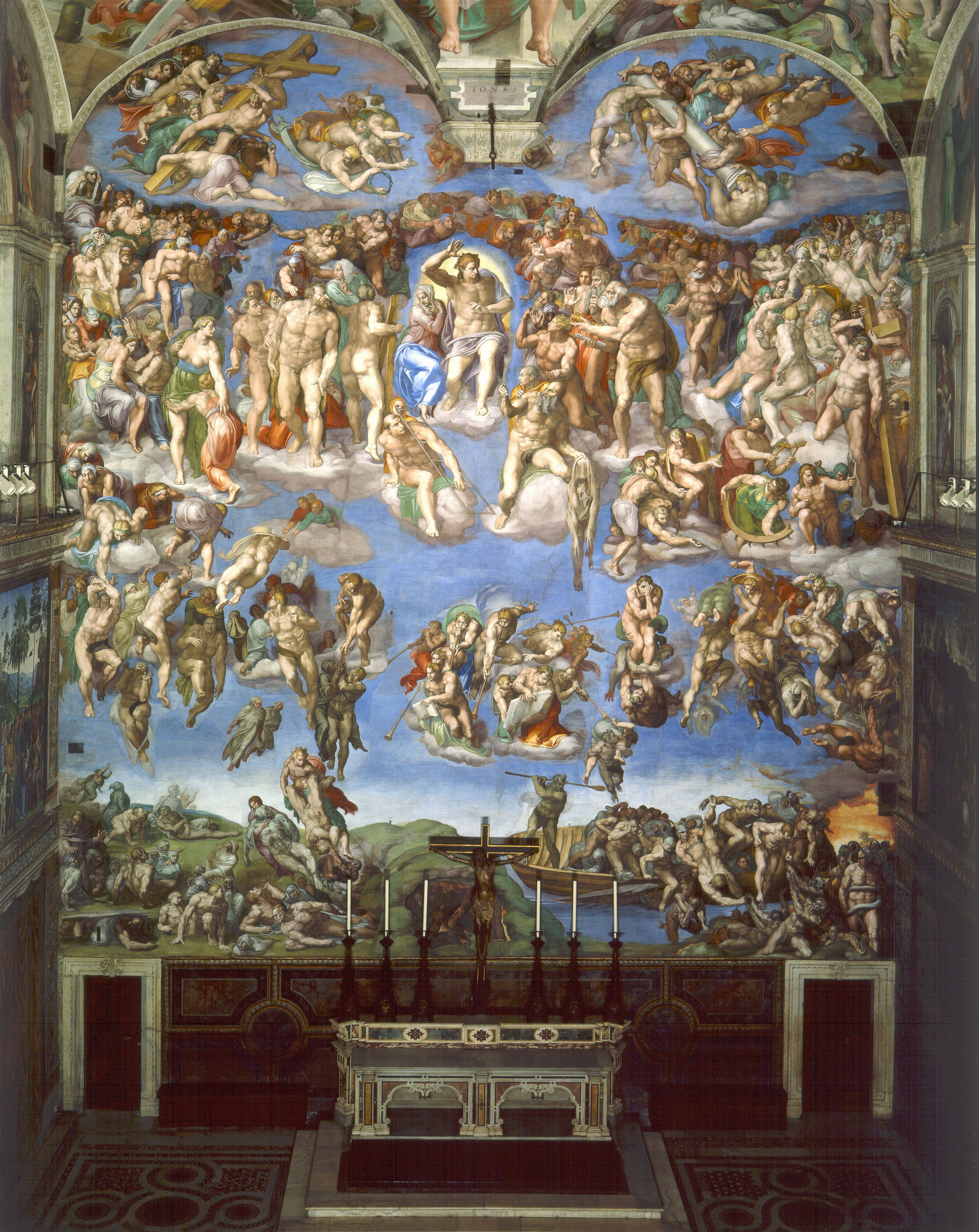 The Last Judgement Pinturas De Michelangelo Arte Renascentista
