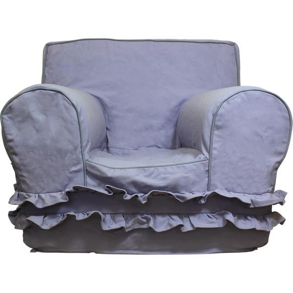 Lavender With Ruffles Chair Cover For Foam Childrens Chair