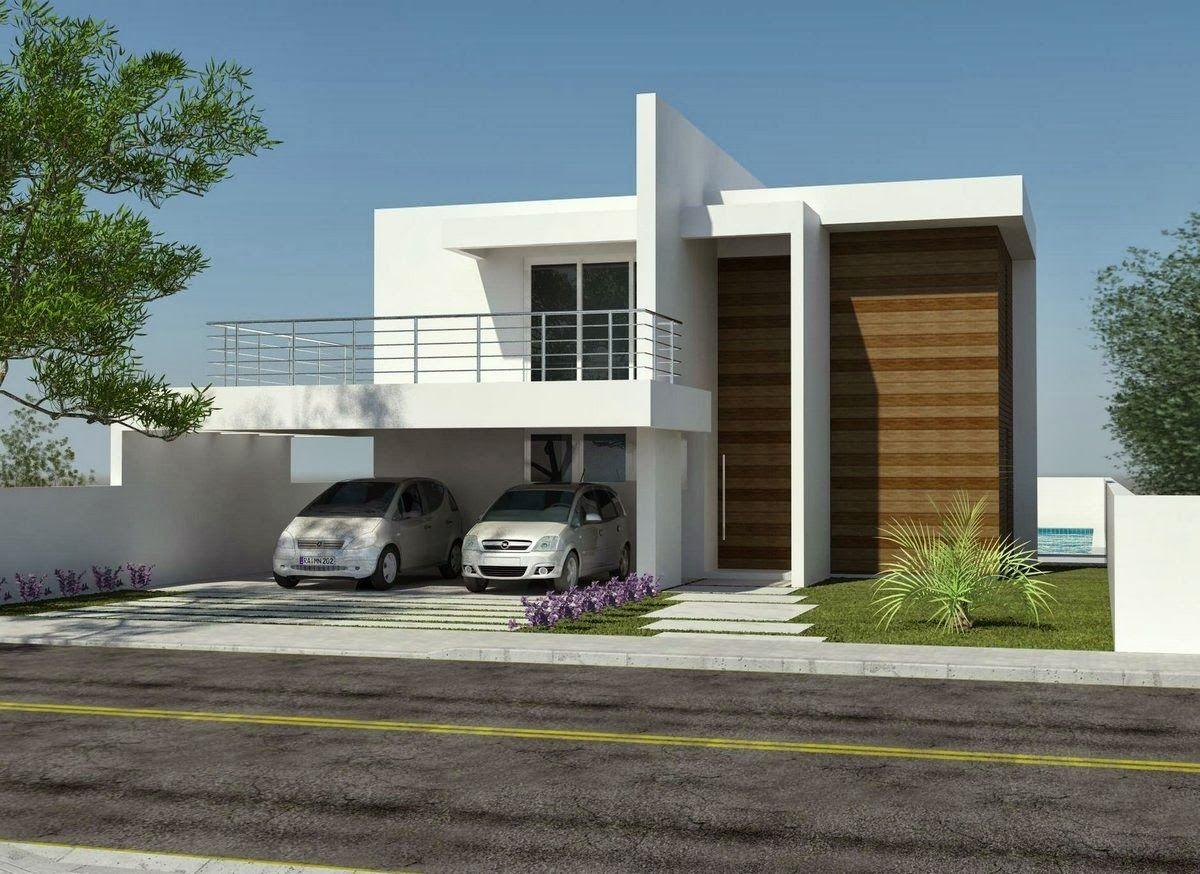 Fachadas de casas de sobrados veja 50 modelos lindos for Modelos de casas minimalistas