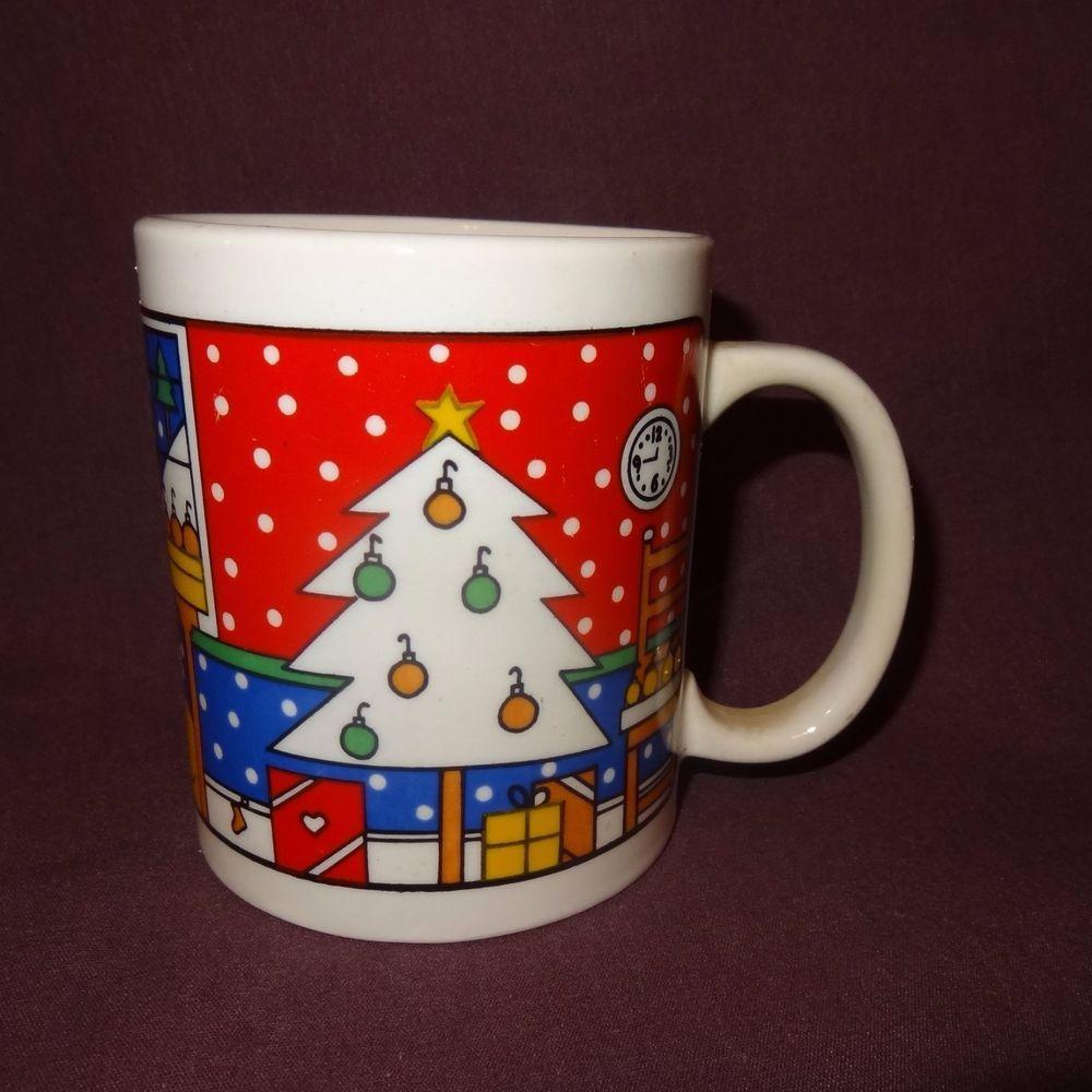 Christmas Cat Coffee Mug Tree Ornaments Cup 12 Oz Holiday Home Presents Unknown Christmas Mugs Mugs Cat Coffee Mug