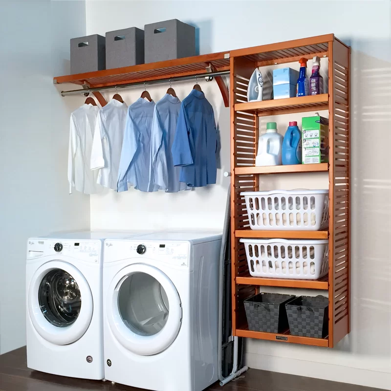 John Louis Home Solid Wood Laundry Room Organizer Wayfair In 2020 Laundry Room Storage Laundry Room Design Laundry Room Decor