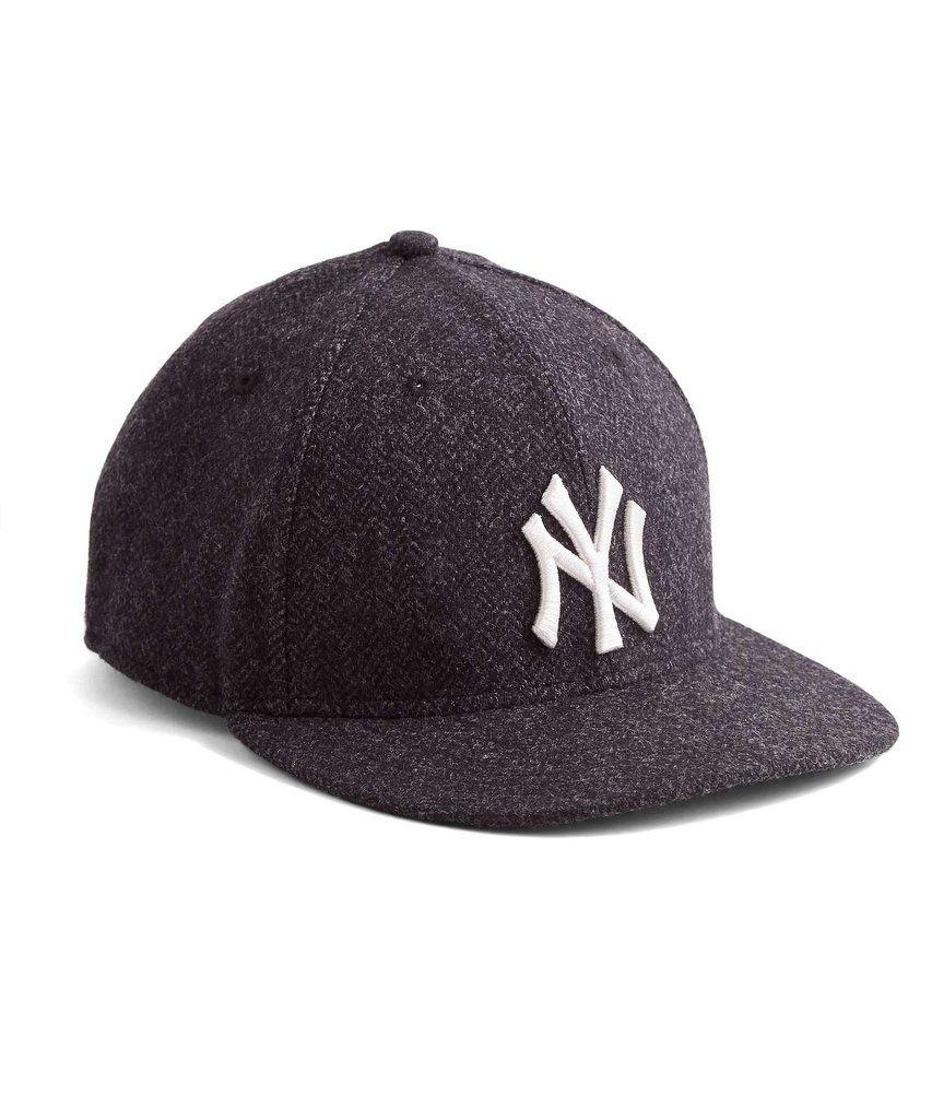 New Era Yankees Fitted Hat in Abraham Moon Charcoal Herringbone Wool ... 930187f203