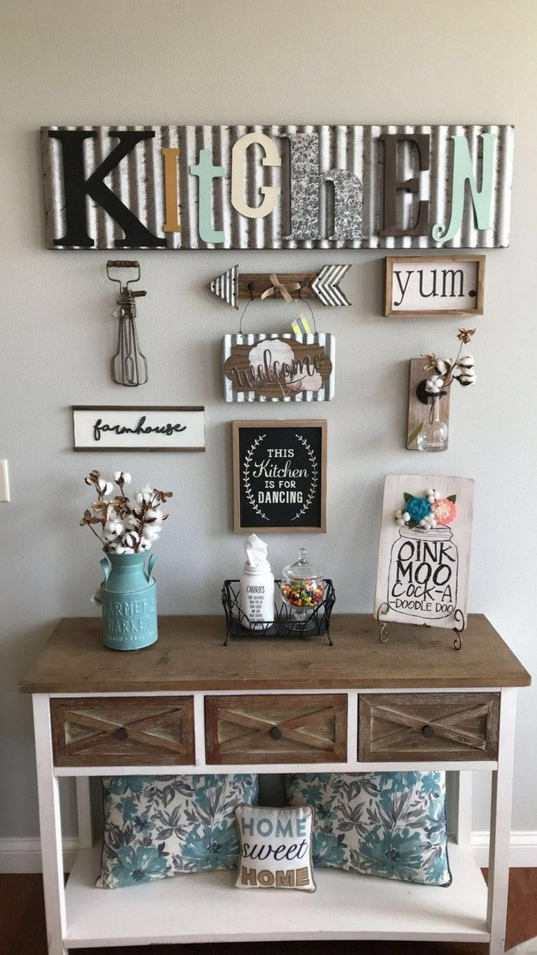99 Eyechacting Diy Kitchen Wall Decorating Ideas Kitchen Wall Decor Farmhouse Kitchen Decor Farmhouse Wall Decor