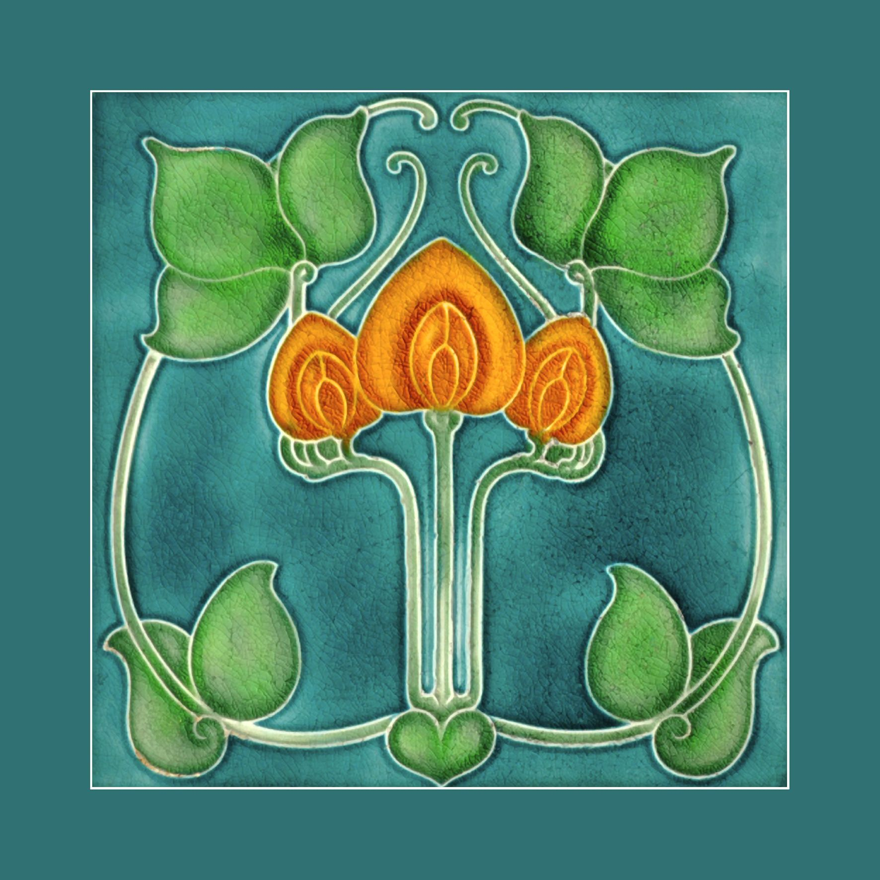 art nouveau tile by pilkington courtesy of robert smith  54 art nouveau tile by pilkington 1920 courtesy of robert smith from his