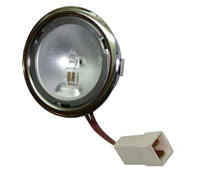 Halogenlampe für elica dunstabzugshauben mit verchromten rand
