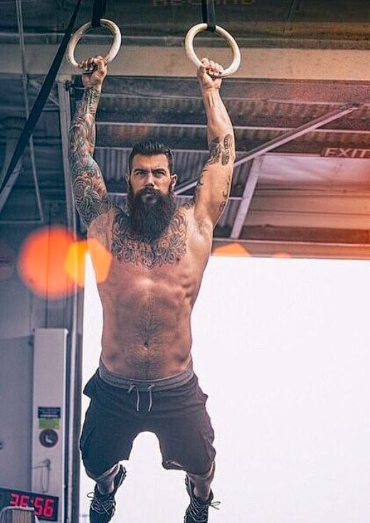 beards and muscles Men tattoos with