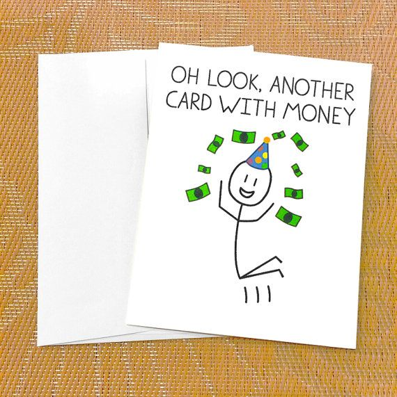 Funny Birthday Card for Teen Funny Money Card Oh Look Another – Teen Birthday Cards