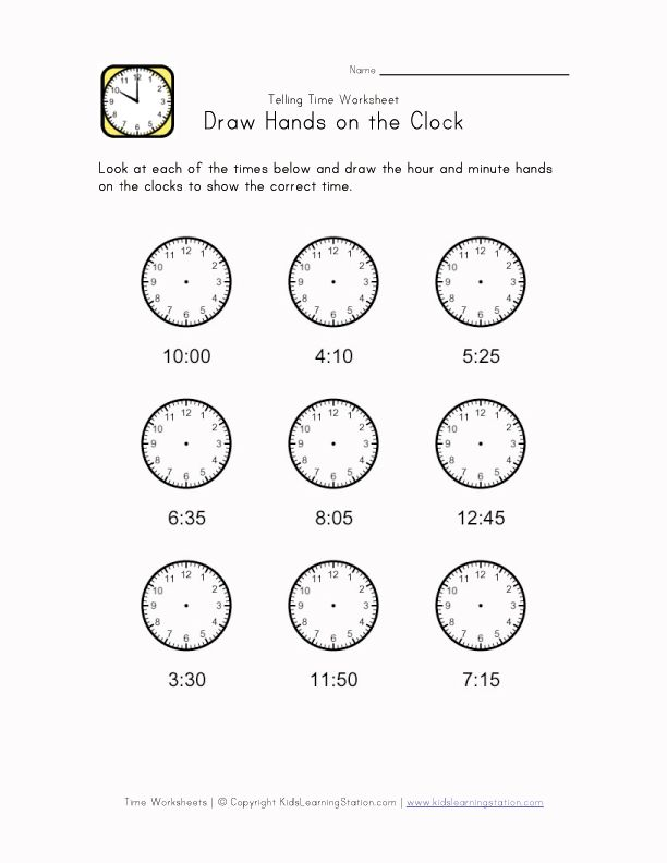 clock hands worksheet | Maths- Time | Pinterest