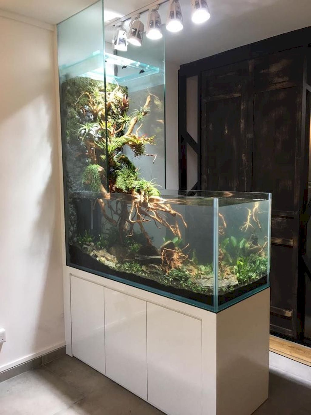 Creative Wall Auarium Designs For Home Decoration And Amazing Room Separator Part 28 Elonahome Com In 2020 Wall Aquarium Home Aquarium House Design