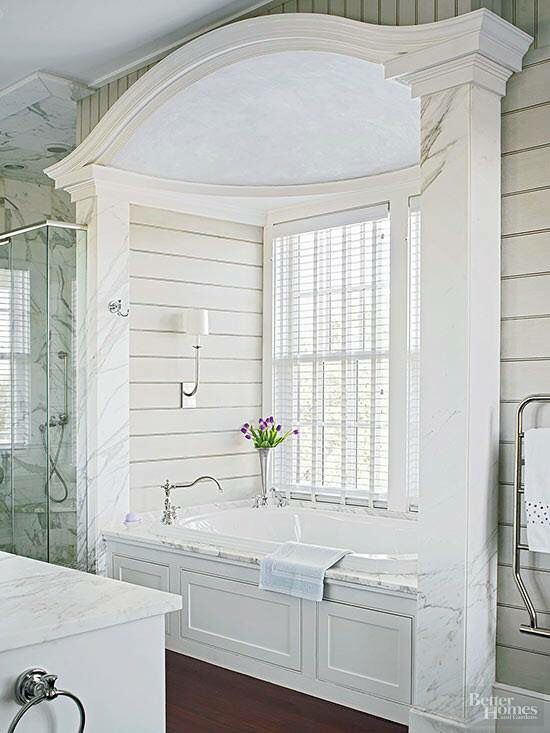 Jacuzzi Tub In Master Bathroom Nook Rustic French Cottage Style