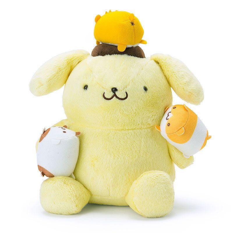 Pom Pom Purin mini Plush Doll in Bowl Sanrio Japan