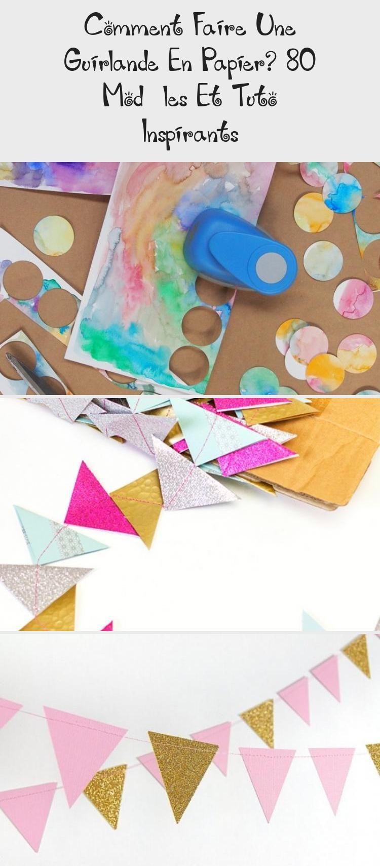 Comment Faire Une Guirlande En Papier? 80 Modèles Et Tuto Inspirants #floconsdeneigeenpapier