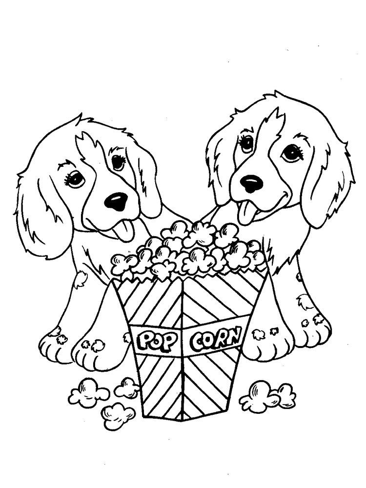 Dog And Puppy Coloring Pages 1 Dog Coloring Page Puppy Coloring