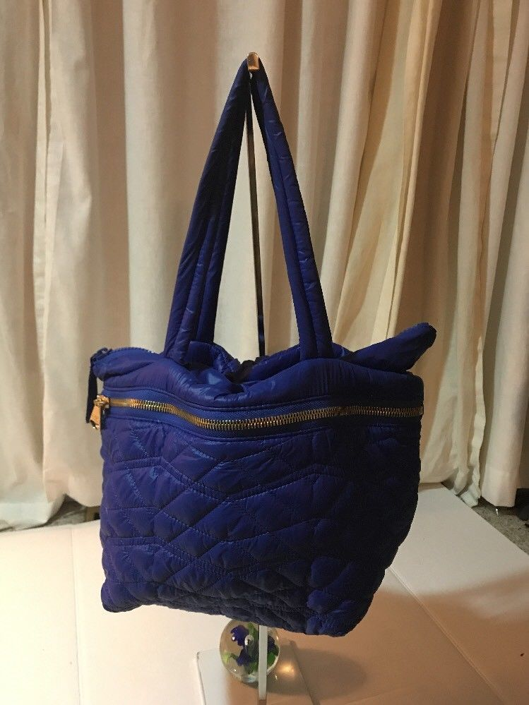 Dolce Vita Royal Blue Nylon   Fiber Yarn Satchel Handbag Extra Large ... 07fb6d469c6a4